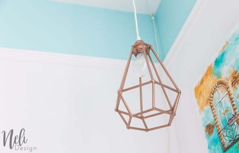 Make An Affordable Geometric Pendant Light