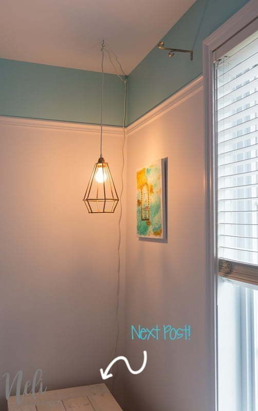 Geometric during light   DIY   Dowels   cheap, easy and affordable   Tutorial   instructions   $ 100 Room Challenge   Geometric suspended lamp   easy, cheap   Reading corner   Reading Nook  