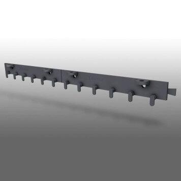 rail de fixation pour rideau a lanieres en polypropylene