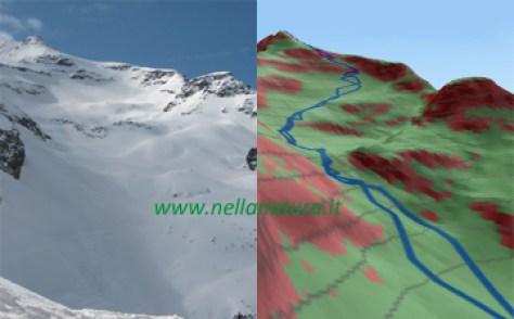 Pendio rischioso Monte Nevoso