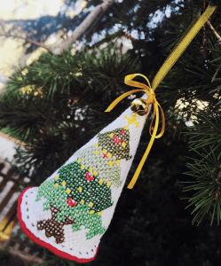 Albero di Natale Ricamato a punto croce