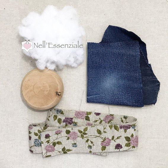 Puntaspilli di Jeans materiale