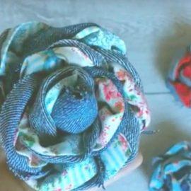 Come fare rose di stoffa in jeans e tessuto