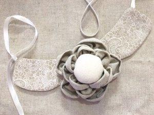 Come fare una collana di stoffa