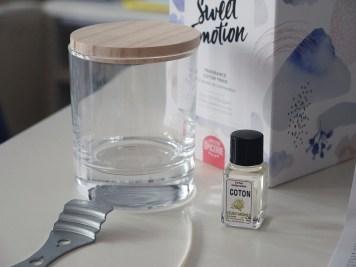 Un kit pour réaliser une bougie à la douce odeur de coton