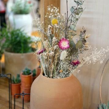 Fleurs séchées au salon Maison & Objet