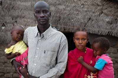 Mysseria and Dinka couple in South Sudan.