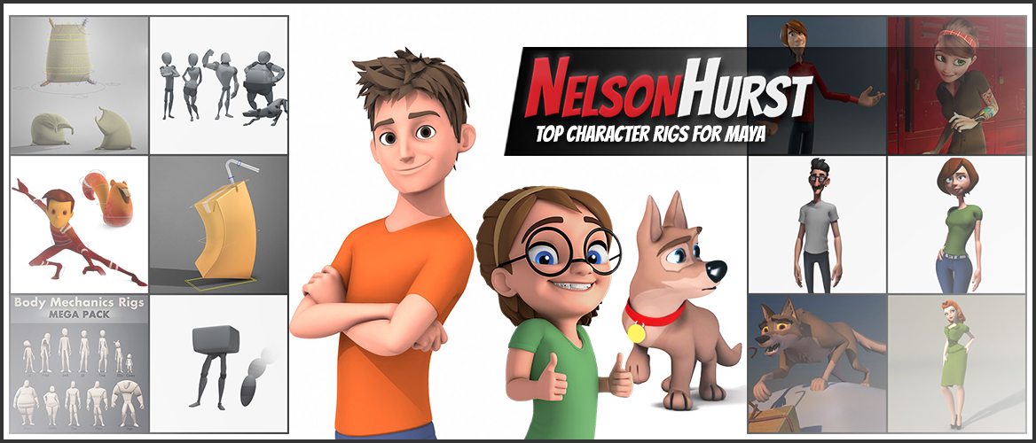 Top Character Rigs for Maya (Free and Premium) – Nelson Hurst