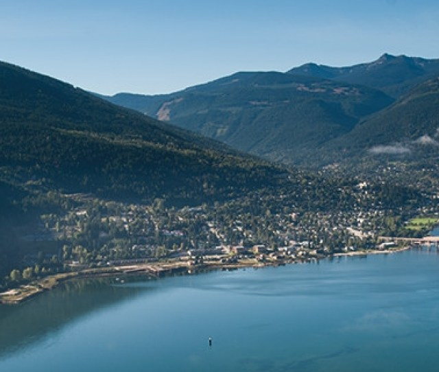 An Aerial View Of Nelson Bc