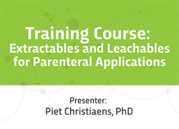 PDA Extractables & Leachables Training Course