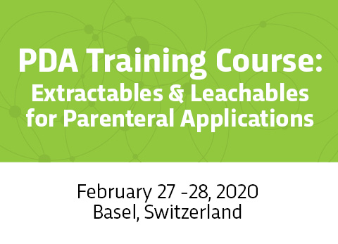 PDA Training Course: Extractables & Leachables for Parental Applications