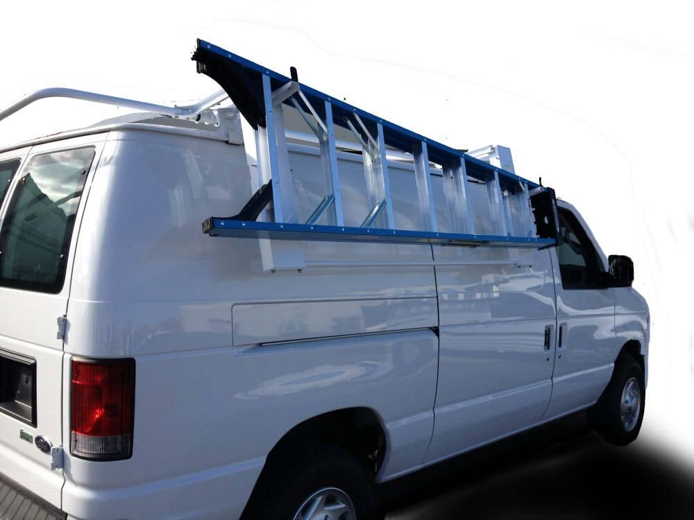 kargo master kargo master low roof full size van ez lodown ladder rack 40953 40953 titan truck and accessories