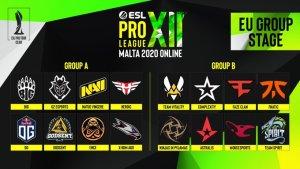 ESL Pro liiga 12 joukkueen julki