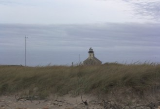 Government shut-down lighthouse at Block Island NWR