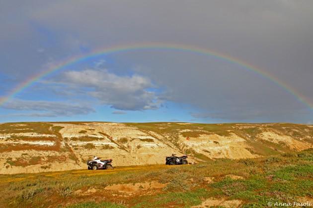 Magical rainbow on Santa Rosa Island