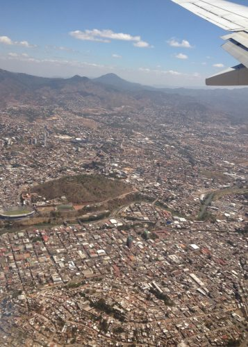 Arriving in Tegucigalpa (Photo by Ian Gardner)