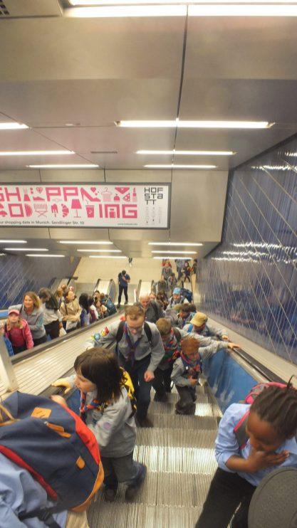 'Aufstieg' zum Marienplatz