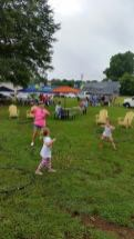 Rhonda Horton, Lilli Palmer and Harper Dodd enjoyed hooping to the music provided by Mike Carter and Melissa Dunnam.