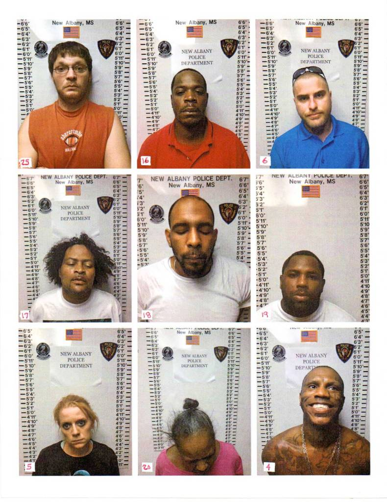 New Albany MS multi drug arrests