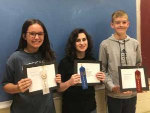 New Albany MS NAMS 8th poetry winners