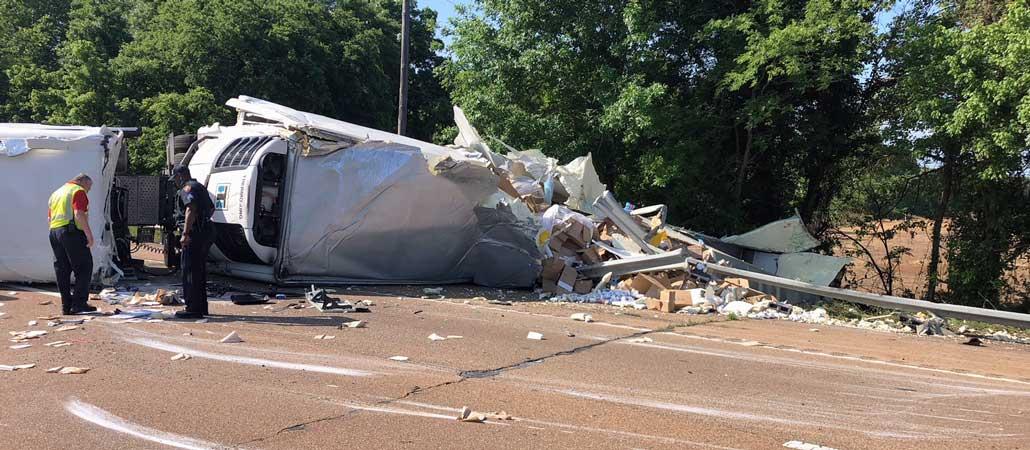 New Albany , MS I-22 truck crash