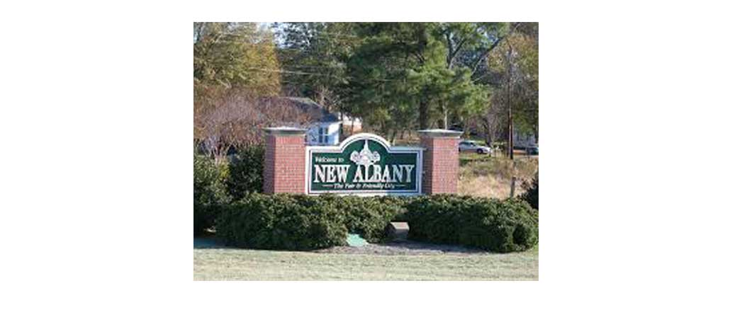 New Albany MS welcome sign