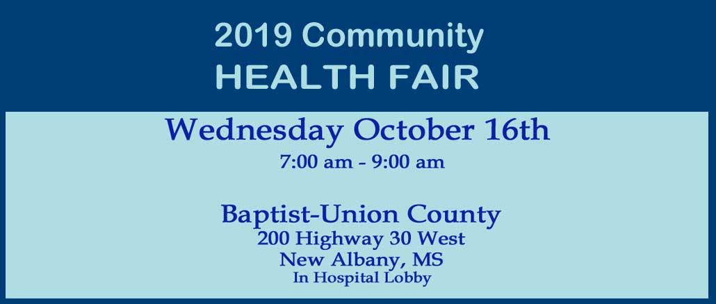 New Albany MS 2019 Community Health Fair