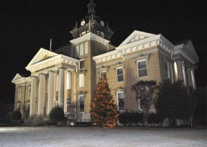 snow at courthouse