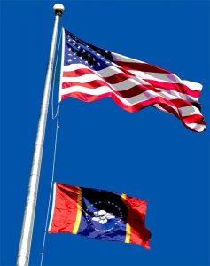 NEMiss.News NAES raises new state flag
