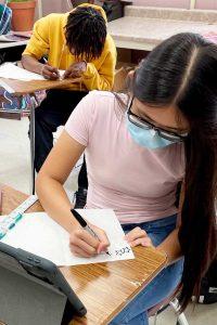 NEMiss.News area students preparing flag art