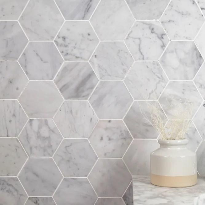 hex and herringbone geometric tile