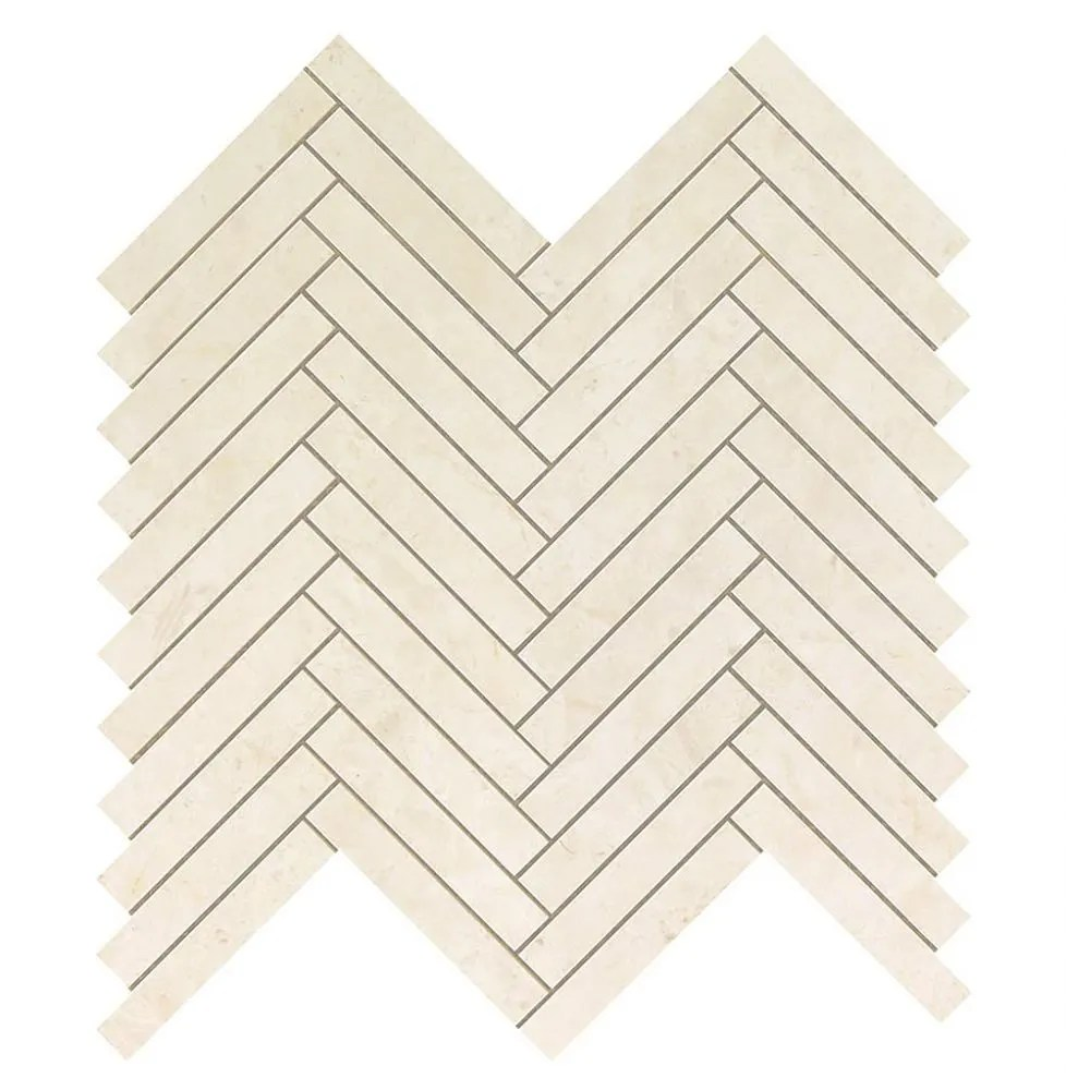 marvel stone cream prestige herringbone wall tile matte 11 8x12