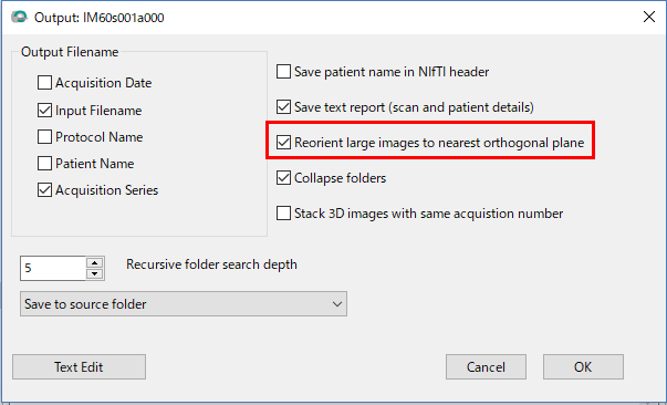 dcm2niiを用いてDICOM形式をNIFTI形式へ変換する方法
