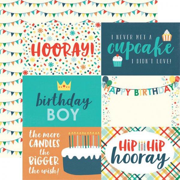 Scrapbooking Paper By Echo Park 4 X 6 Happy Birthday Boy Nemravka Cz