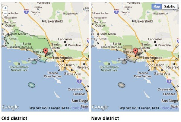 Interactive Map Of New CA Legislative And Congressional Districts - Interactive map of california