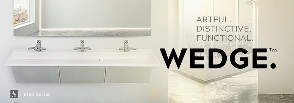 wedge basin solid surface vanity tops