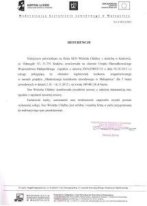 Referencje - Urząd Marszałkowski Województwa Małopolskiego