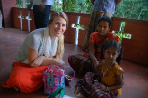 Me & my beautiful sponsor child. (And her mother!)