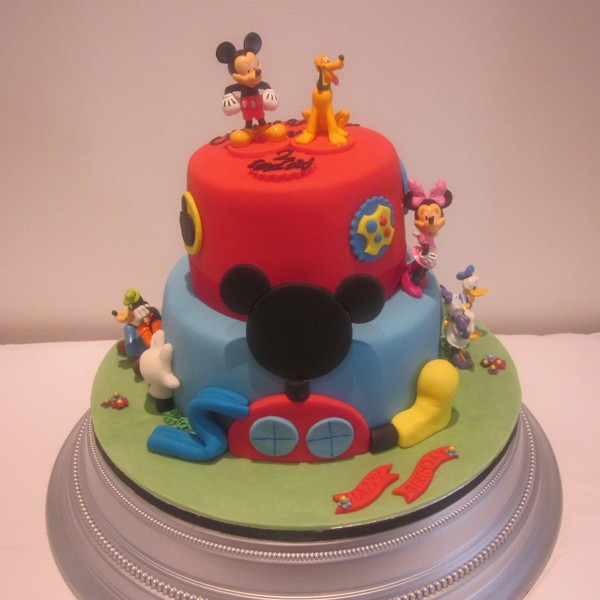 Two Tier Mickey Mouse Birthday Cake Neo Cakes