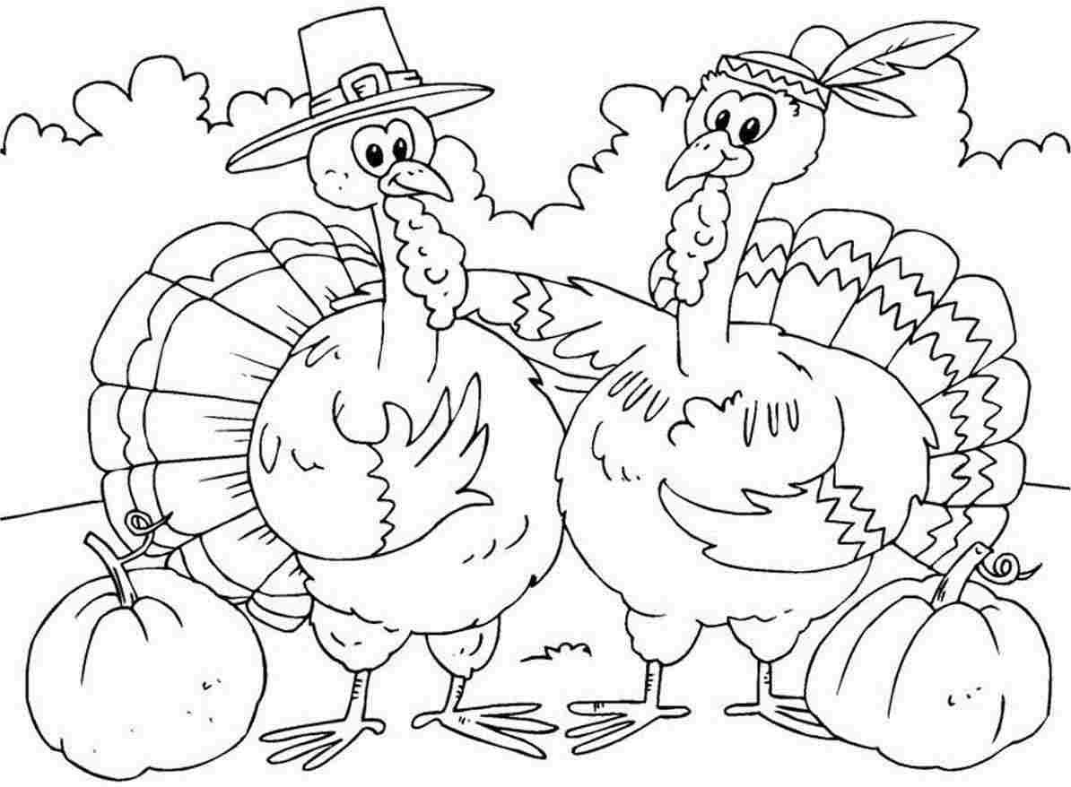 Free Coloring Pages Thanksgiving