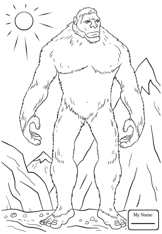 30 best ideas for coloring  Coloring Pages Bigfoot
