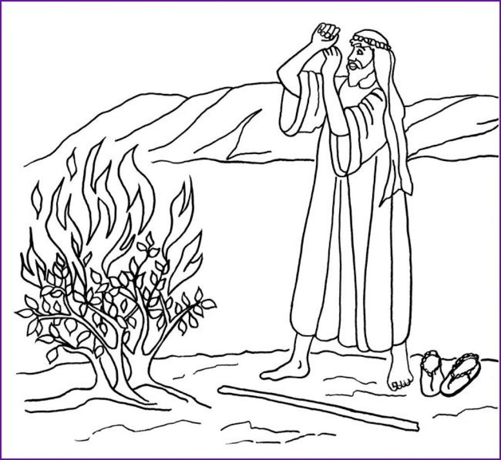 Moses And The Burning Bush Coloring Page Neo Coloring