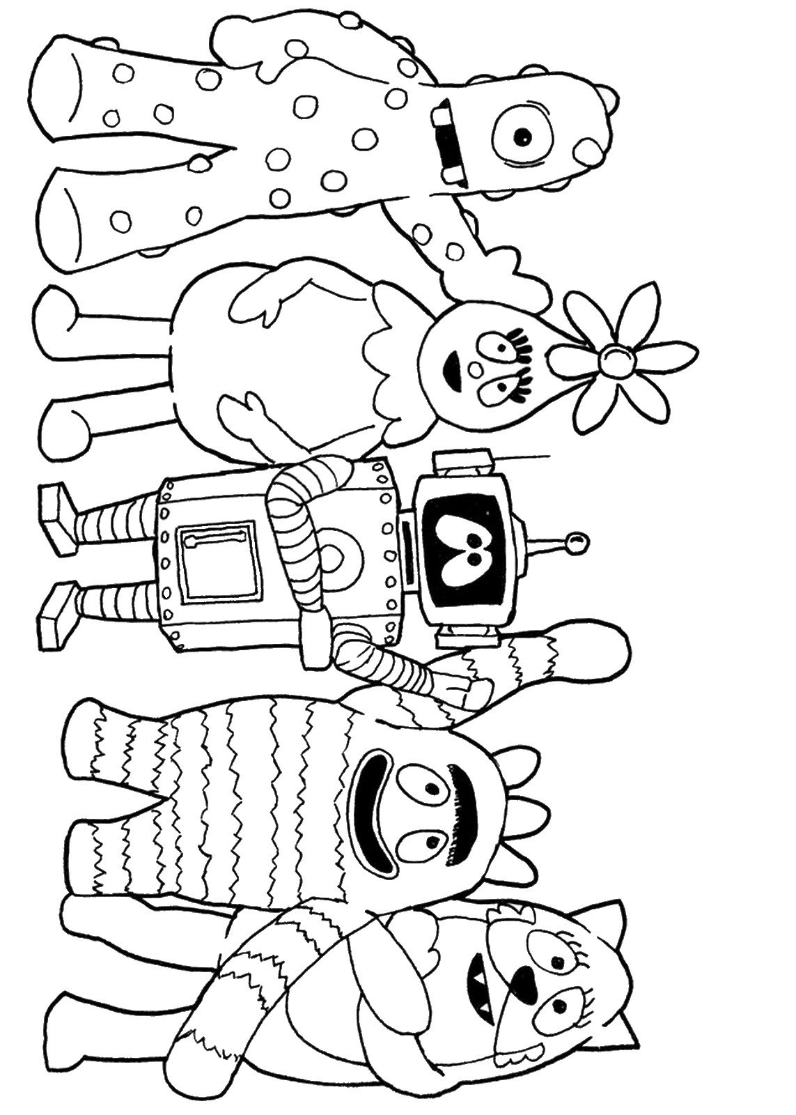 Yo Yo Coloring Pages Z