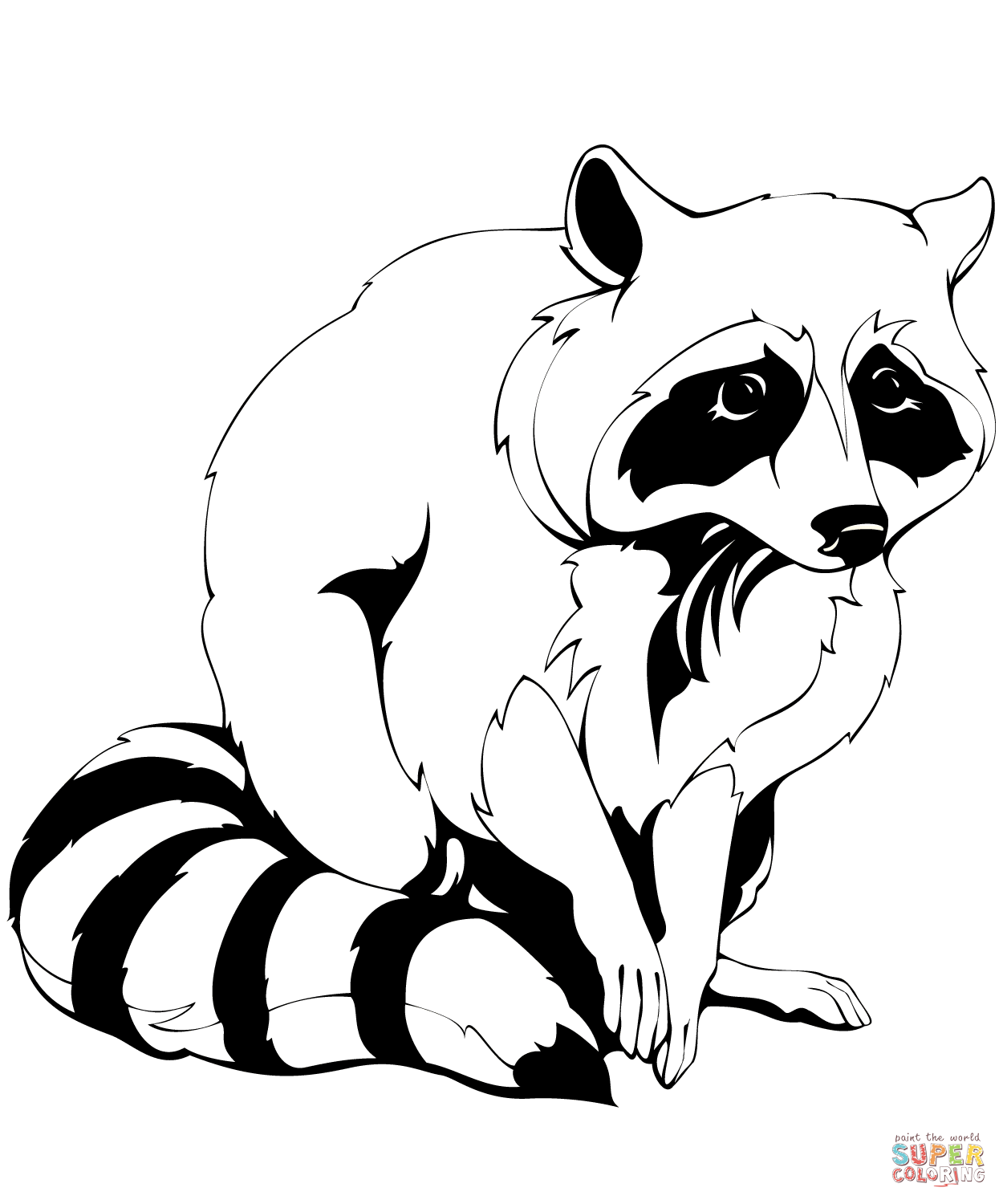 Raccoons Coloring Pages Neo Coloring