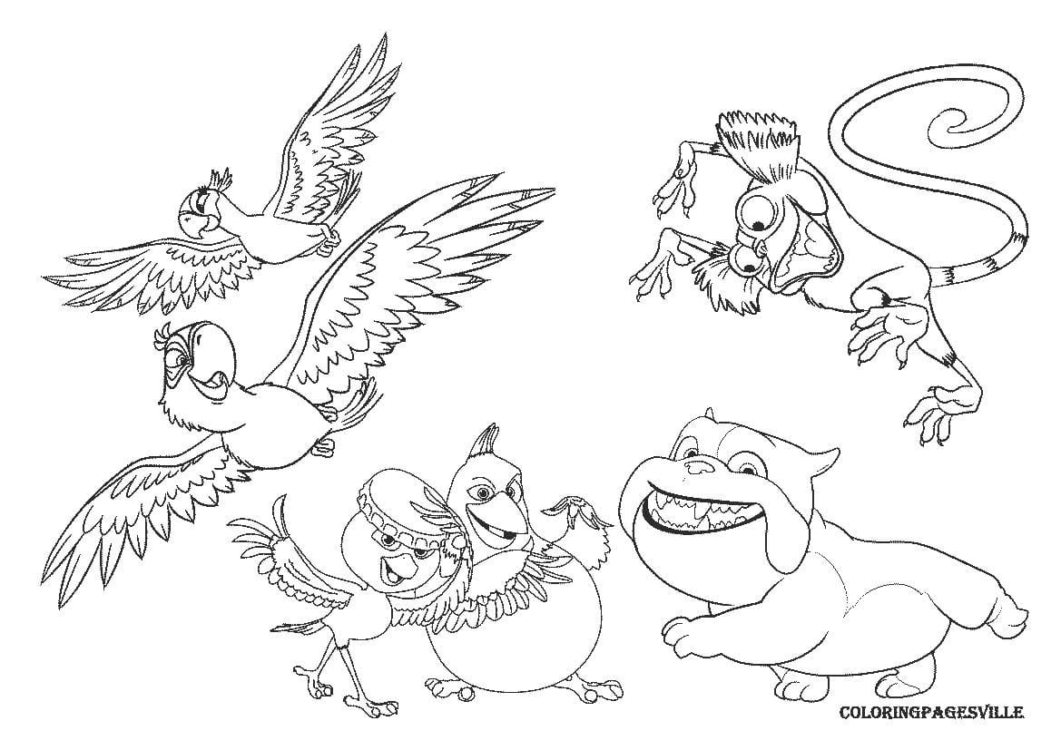 Angry Birds Rio Printable Coloring Pages New Inside Neo
