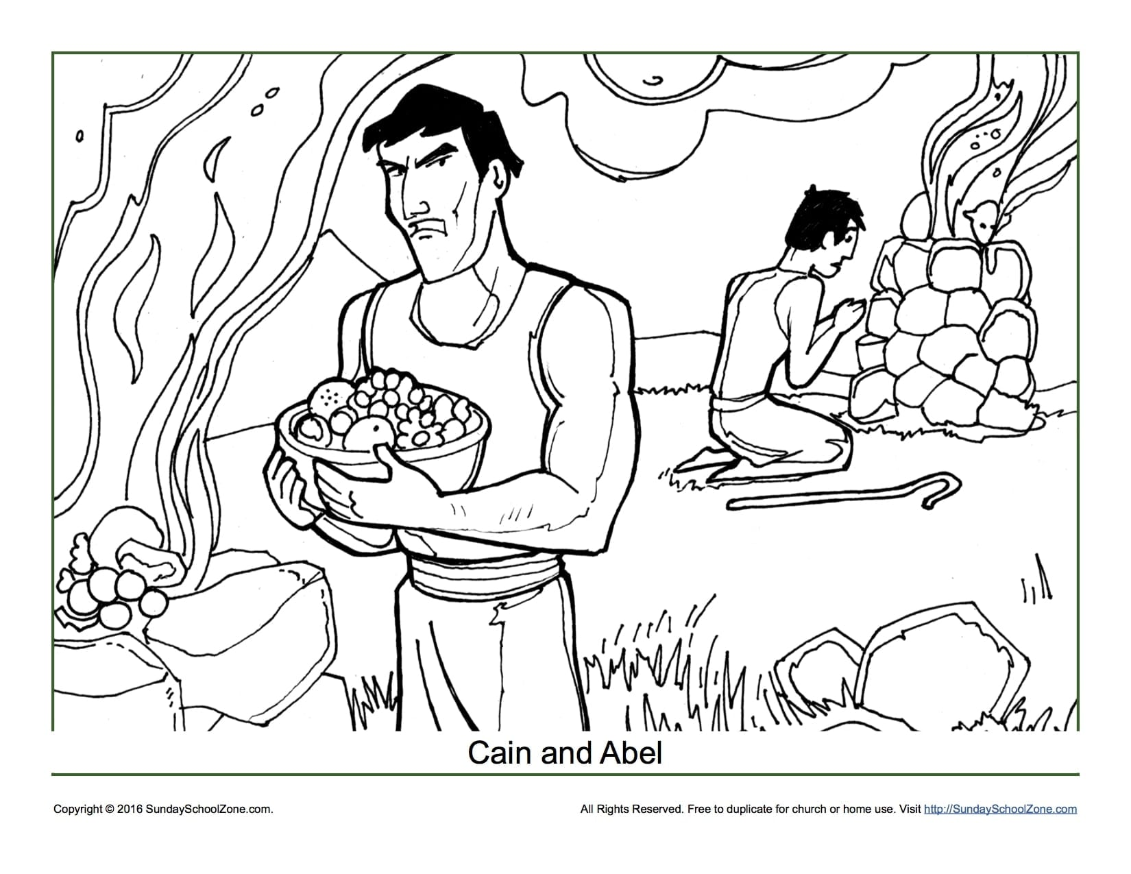 Cain And Abel Coloring Pages