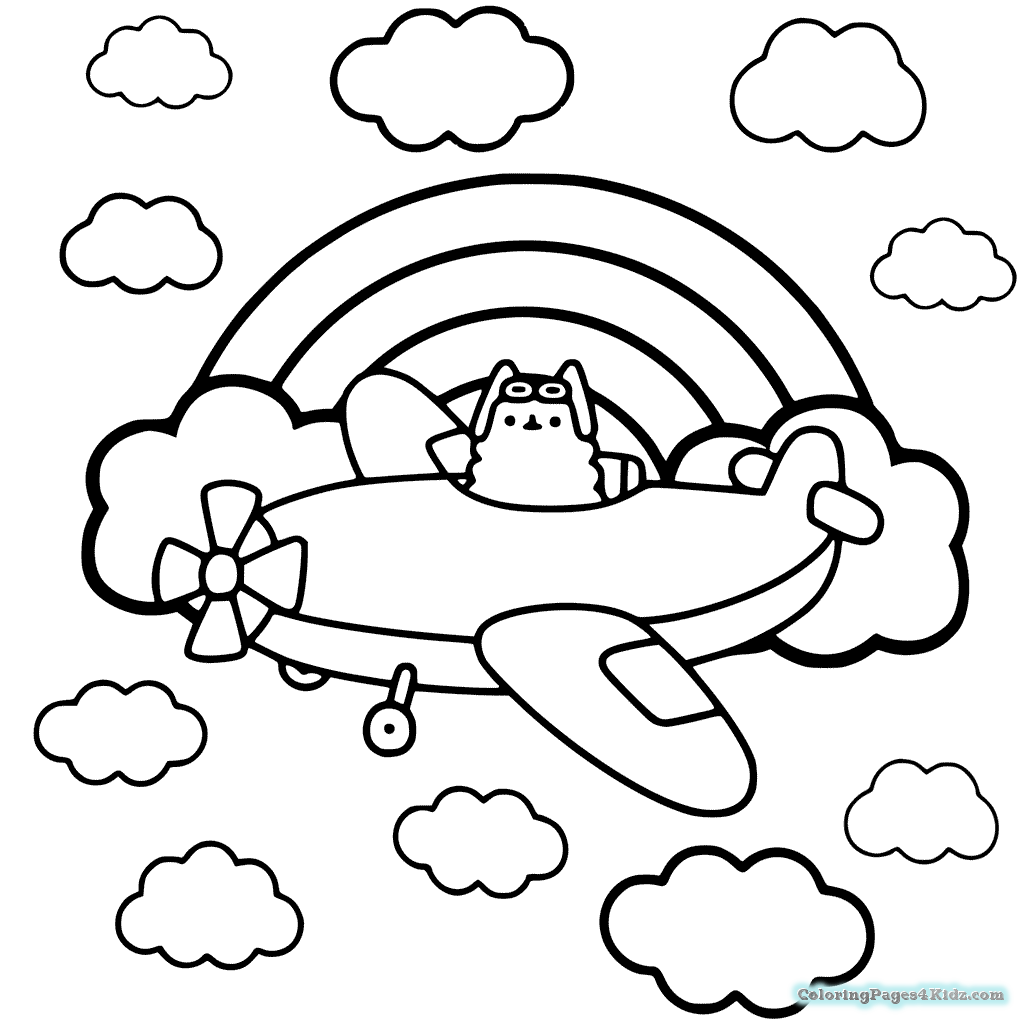 Pusheen Coloring Pages