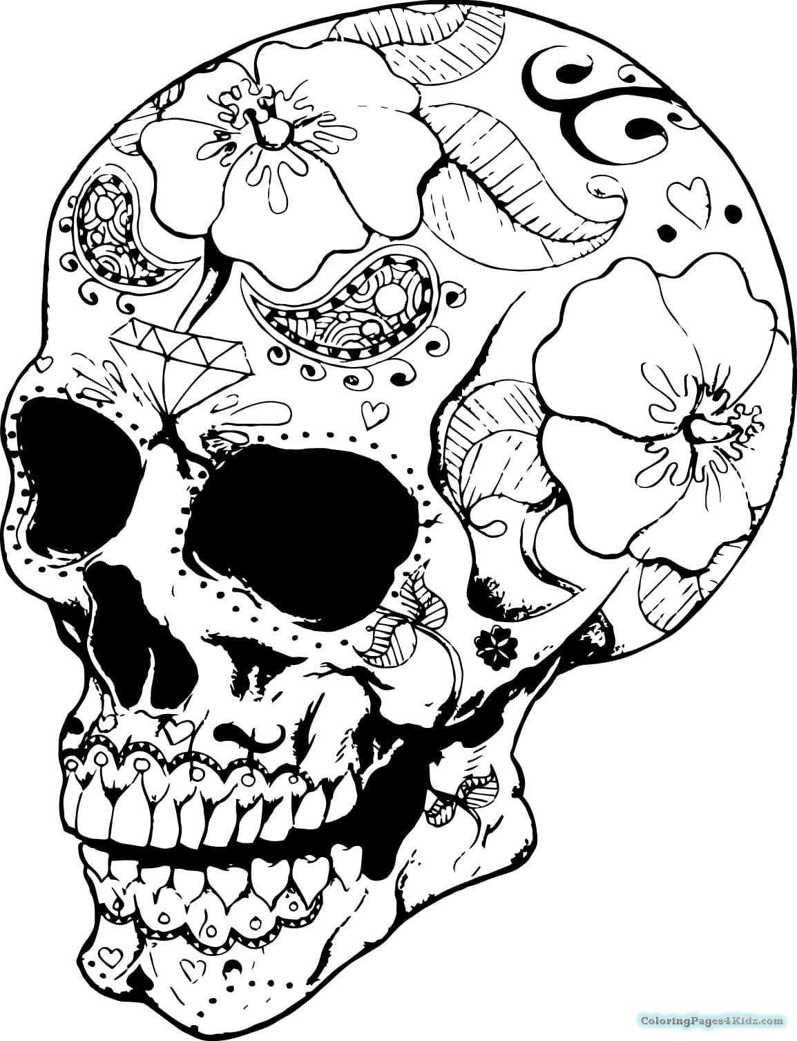 Skull Coloring Book