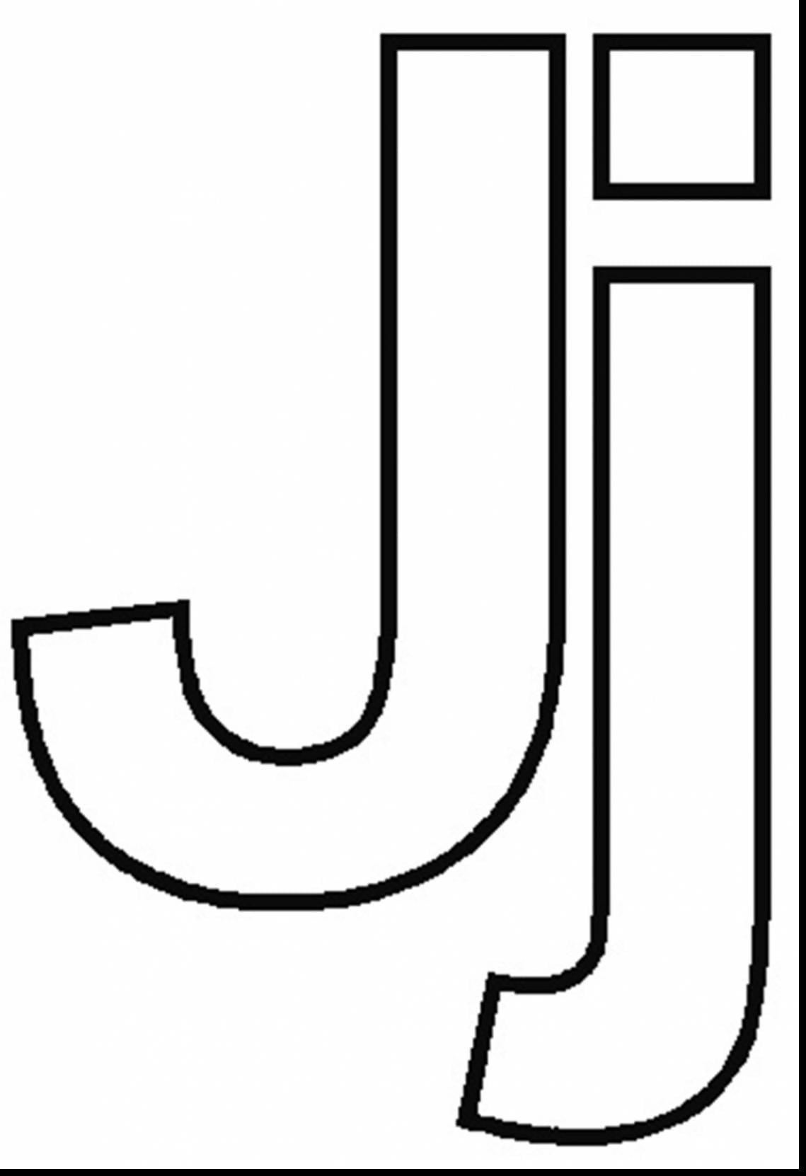 Letter J Coloring Page