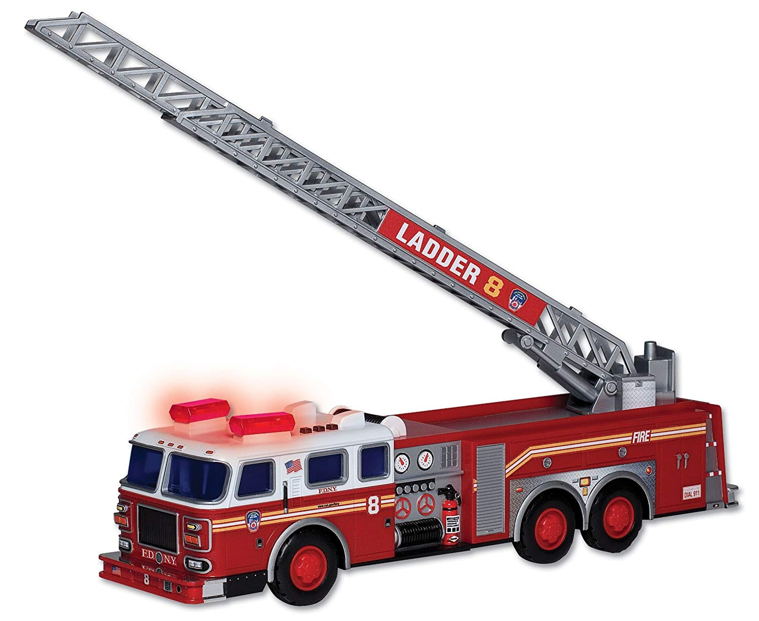Amazon Com Daron Fdny Ladder Truck With Lights And Sound